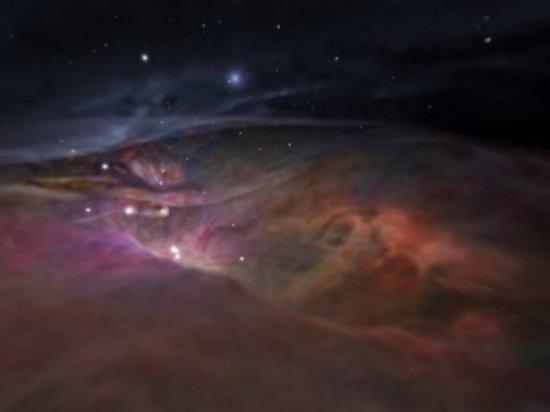 Полет сквозь туманность Ориона показали на удивительном видео