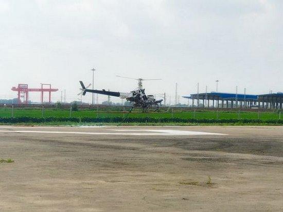В Китае успешно испытали беспилотный вертолет