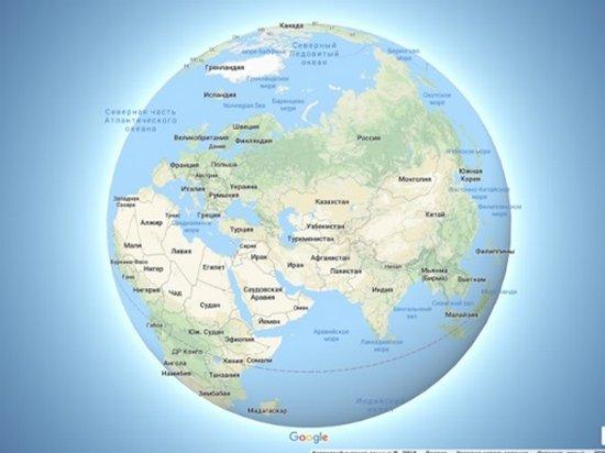 В Google Maps изменили форму Земли