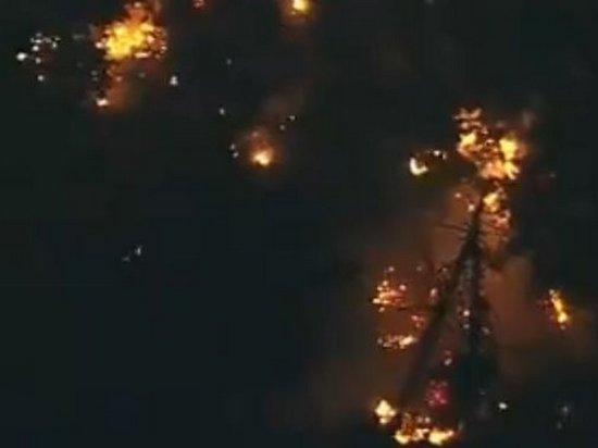 Опубликовано видео с места крушения угнанного в Сиэтле самолета