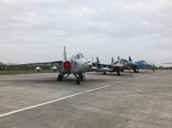 На учениях «Чистое небо» разбился украинский истребитель Су-27