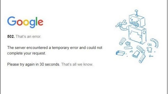 Сервисы Google дали сбой по всему миру