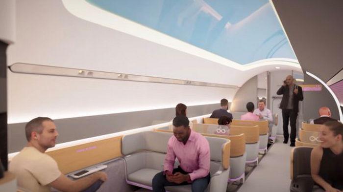 Virgin Hyperloop показала интерьер вакуумного поезда компании: видео