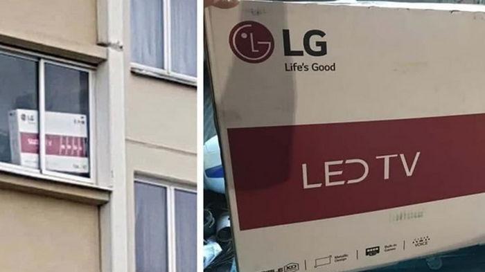 В Минске мужчину задержали за коробку из-под телевизора на балконе