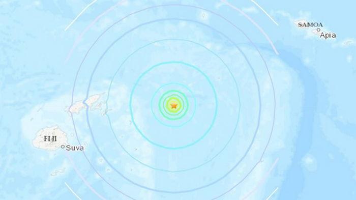 У берегов Фиджи произошло землетрясение магнитудой 6,5