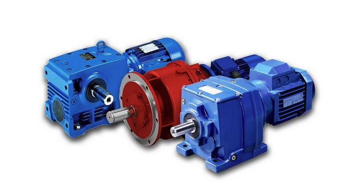 Редукторы и электродвигатели для подъемно-транспортного оборудования