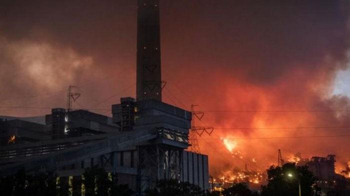 В Турции предотвратили пожар на электростанции