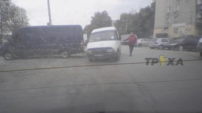 В Харькове угнали авто с картошкой в счет зарплаты (видео)