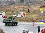 Американскую военную колонну в Чехии встречали с флагами Украины (фото)